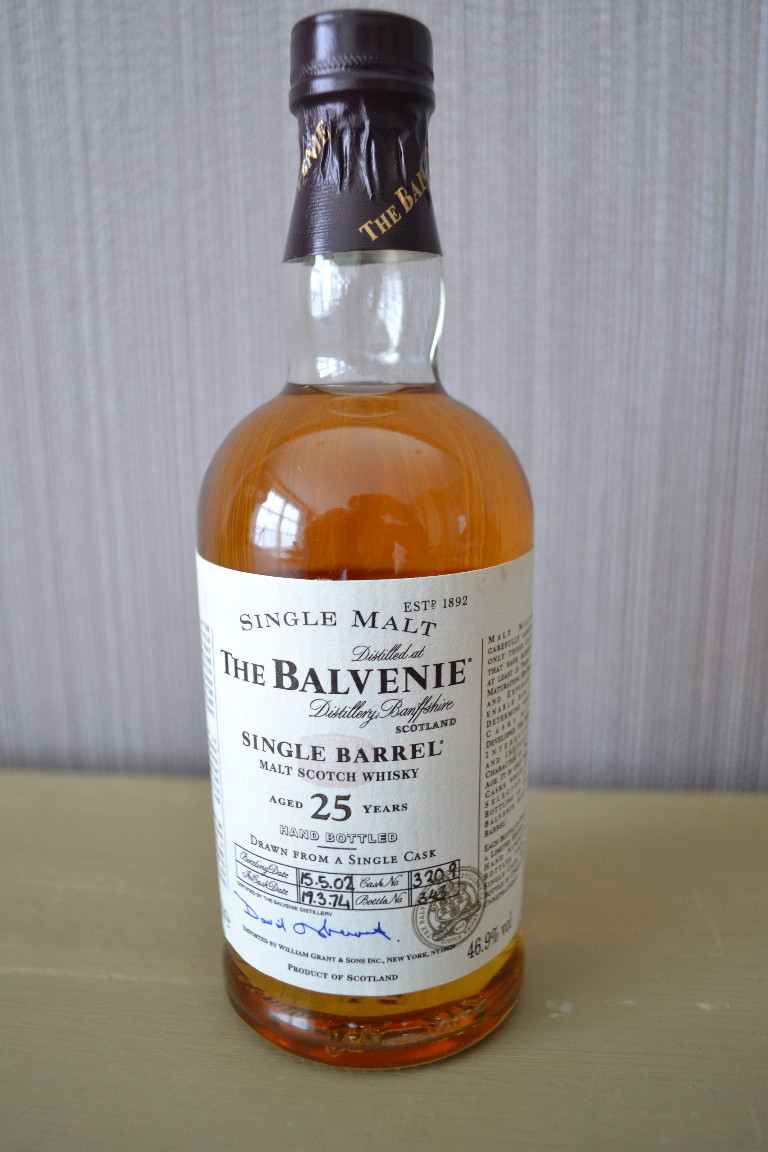 balvenie 25 single barrel 1974